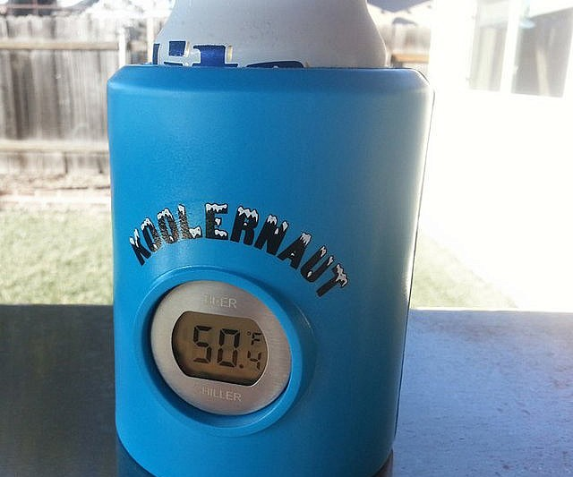 beer koozie thermometer