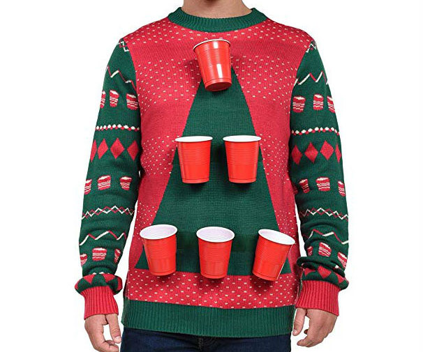 Beer Pong Ugly Christmas Sweater - coolthings.us