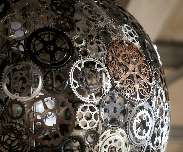Bicycle Parts Chandelier