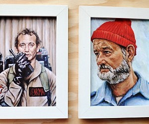 Bill Murray Character Paintings