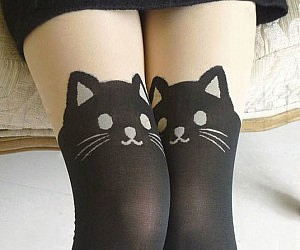 Dark Cat Stockings