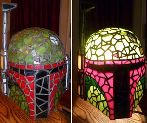 Amazing Boba Fett Stained Glass Lamp
