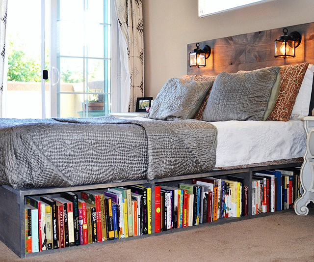 Awesome Bookshelf Bed Frame