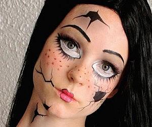 Broken Doll Costume Temporary Tattoos Makeup