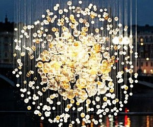 Blown Glass Bubbles Chandelier