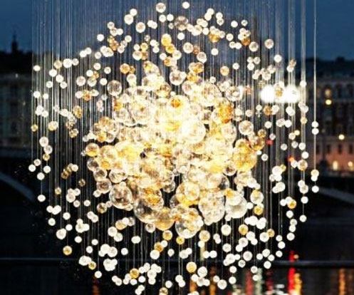 Blown glass bubbles chandelier aloadofball Gallery