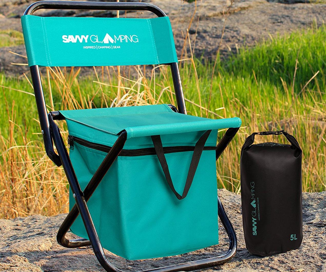 Built-In Cooler Folding Chair