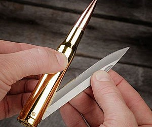 .50 Caliber Bullet Folding Knife