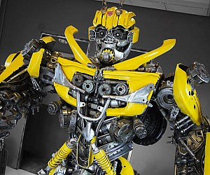 Recycled Metal Bumblebee Statue