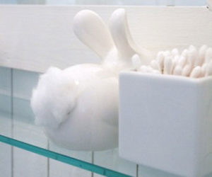 Bunny Tail Cotton Ball Dispenser