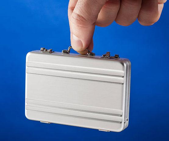 Briefcase business card holder colourmoves