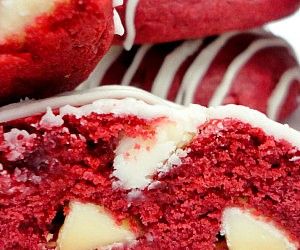 Red Velvet White Chocolate Cookies