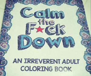 calm the fuck down coloring book - Thrill Murray Coloring Book