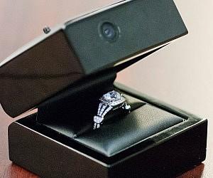 Wedding Ring Box.Hidden Camera Engagement Ring Box