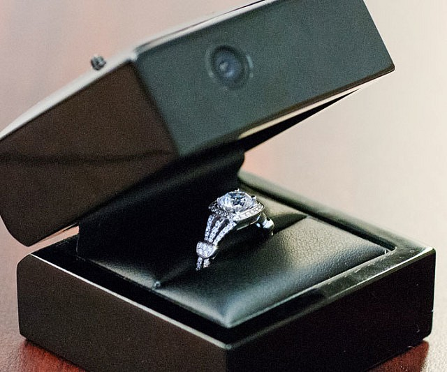 hidden camera engagement ring box - Wedding Ring Box