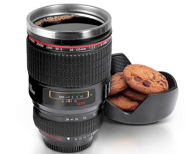 Caniam Camera Lens Coffee Cup, Travel Mug - Camera Eos 24-105Mm Model  Stainless