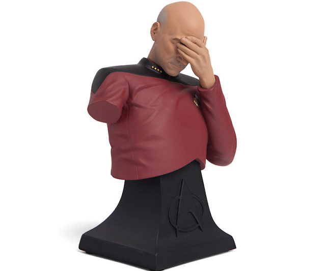 725c25a7 Captain Picard Facepalm Bust