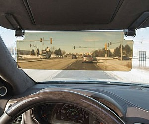 See Through Sun Visor