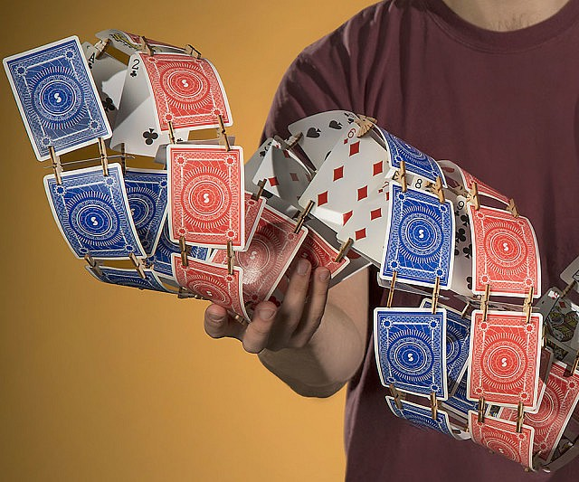 how to make a corset out of playing cards