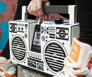 Cardboard Boombox