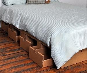cardboard platform bed