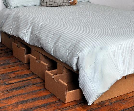 Elegant Cardboard Platform Bed