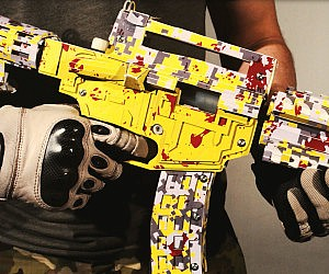 Cardboard Assault Rifle