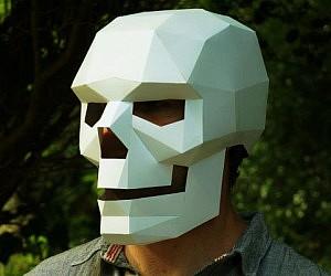 Cardboard Skull Mask