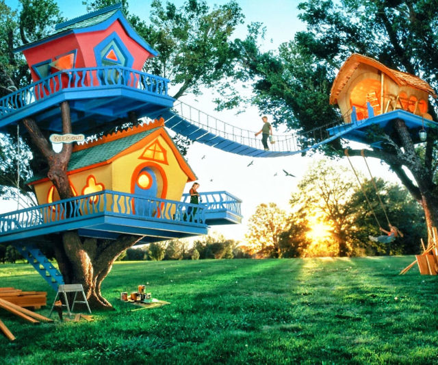 Cartoon Tree Houses High detailled and quality tree house model. cartoon tree houses