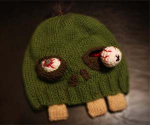 Cartoon Zombie Beanie