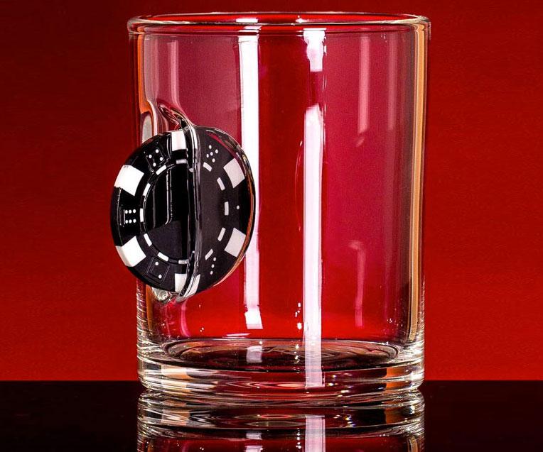 Casino Chip Whiskey Glass