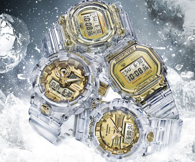 Casio G-Shock Skeleton Gold Watch - coolthings.us