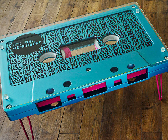 Cassette Tape Coffee Table - Cassette coffee table