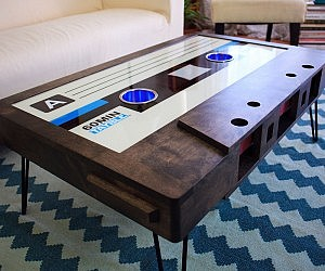 Lovely Cassette Tape Coffee Table