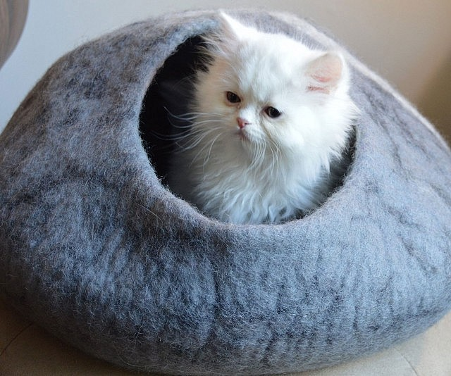 Cave Bed - This company makes cardboard tanks houses and planes for cats and theyre perfect