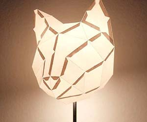 Cat Paper Lampshade