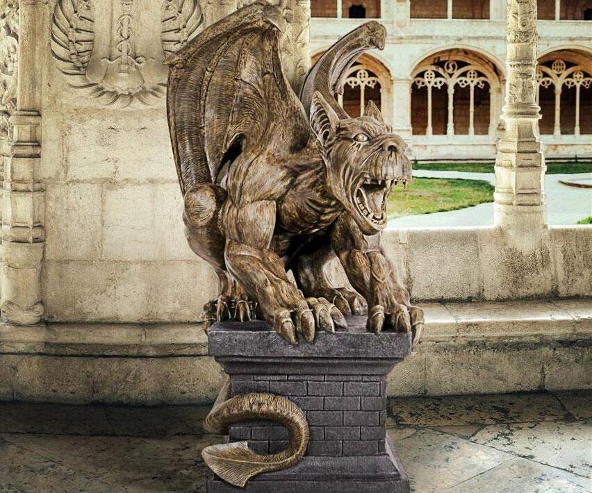 Cathedral Gothic Gargoyle Statue