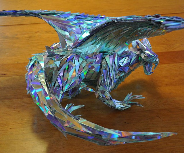 CD Shards Dragon Sculpture