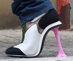 Stuck Chewing Gum High Heels