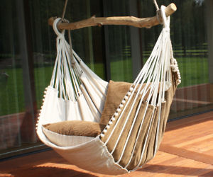 Medium image of the hanging hammock chair