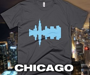 4ee379747b6 City Skyline Audio-Wave T-Shirts