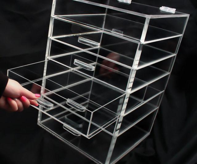 Acrylic Makeup Organizer - Clear acrylic makeup organizer