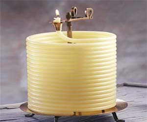 Snaked Wax Candle