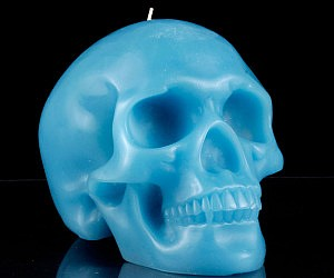 Colored Skull Candles