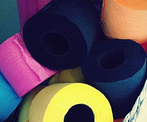 Colored Toilet Paper