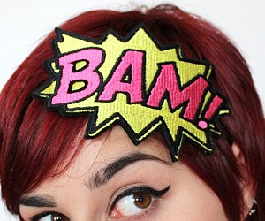 Comic Book Sound Effects Headband
