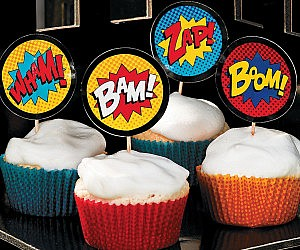 Comic Book Cake Toppers