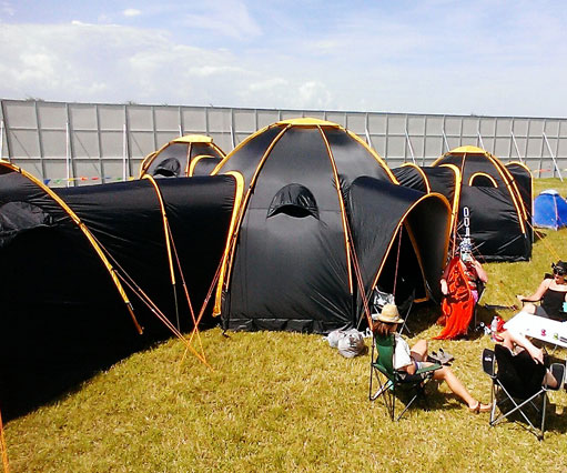 Connecting Pod Tents & Pod Tents