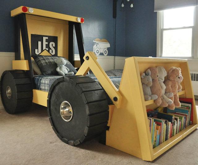 Bulldozer Toddler Bed Plans