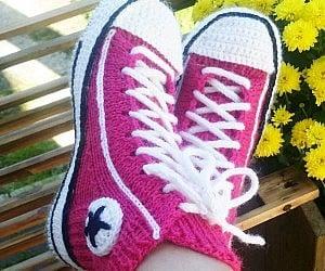 18085f3e330722 Converse Socks Crochet Pattern